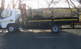 Steel Dropside with Int Tool Box & Crane