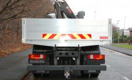 Aluminium dropside body with crane