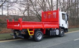 Steel front end tipping body