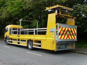 Cone laying vehicle