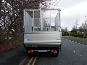 Fully galvanised cage with tail lift