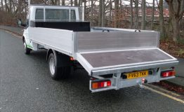 Aluminium dropside body with beavertail
