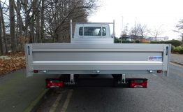 Aluminium dropside body with profile sides