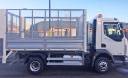 7.5t DAF Caged Tail Lift Tipper