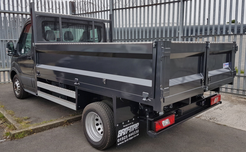 Steel Tipper With Barn Door Rear Tailgate
